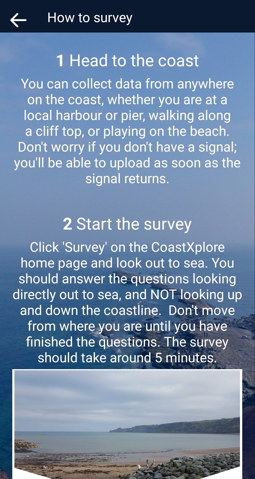 Coast explore app screenshot three of three