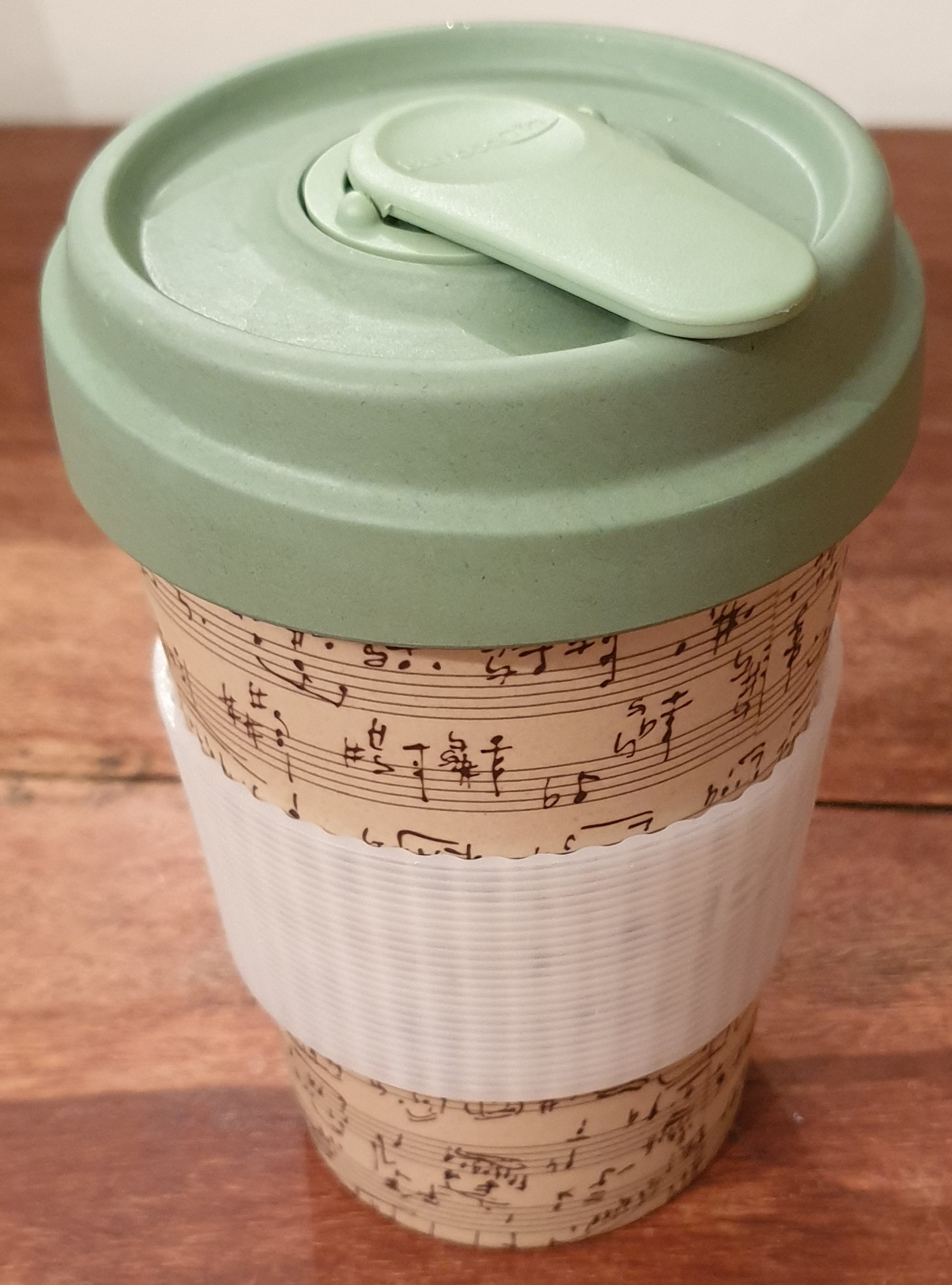 Picture of a bamboo travel cup