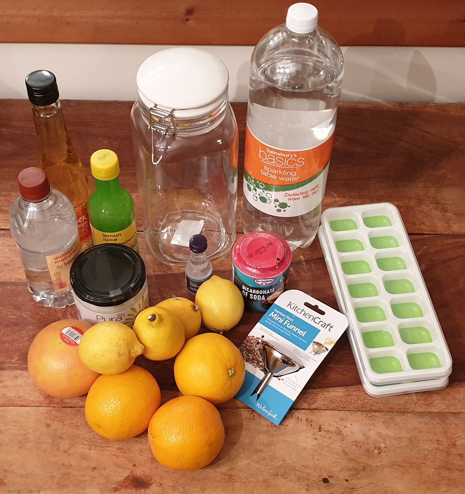 Picture of ingredients for making cleaning products